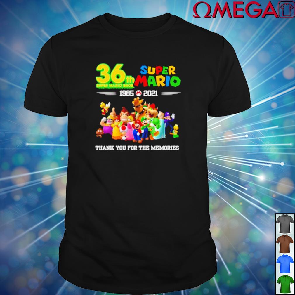 36th Super Mario Bros 1985-2021 thank you for the memories shirt