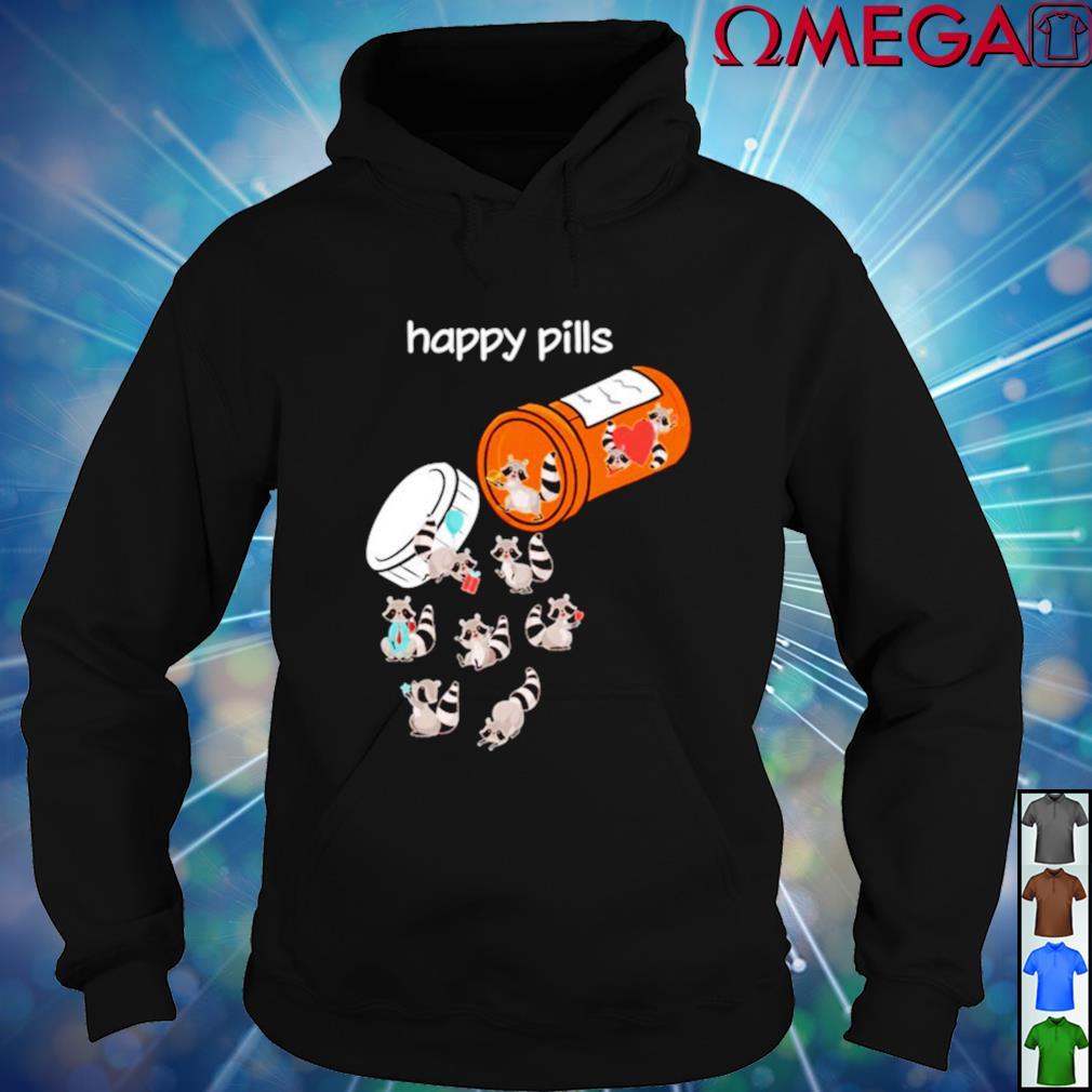 Raccoons Happy Pills hoodie