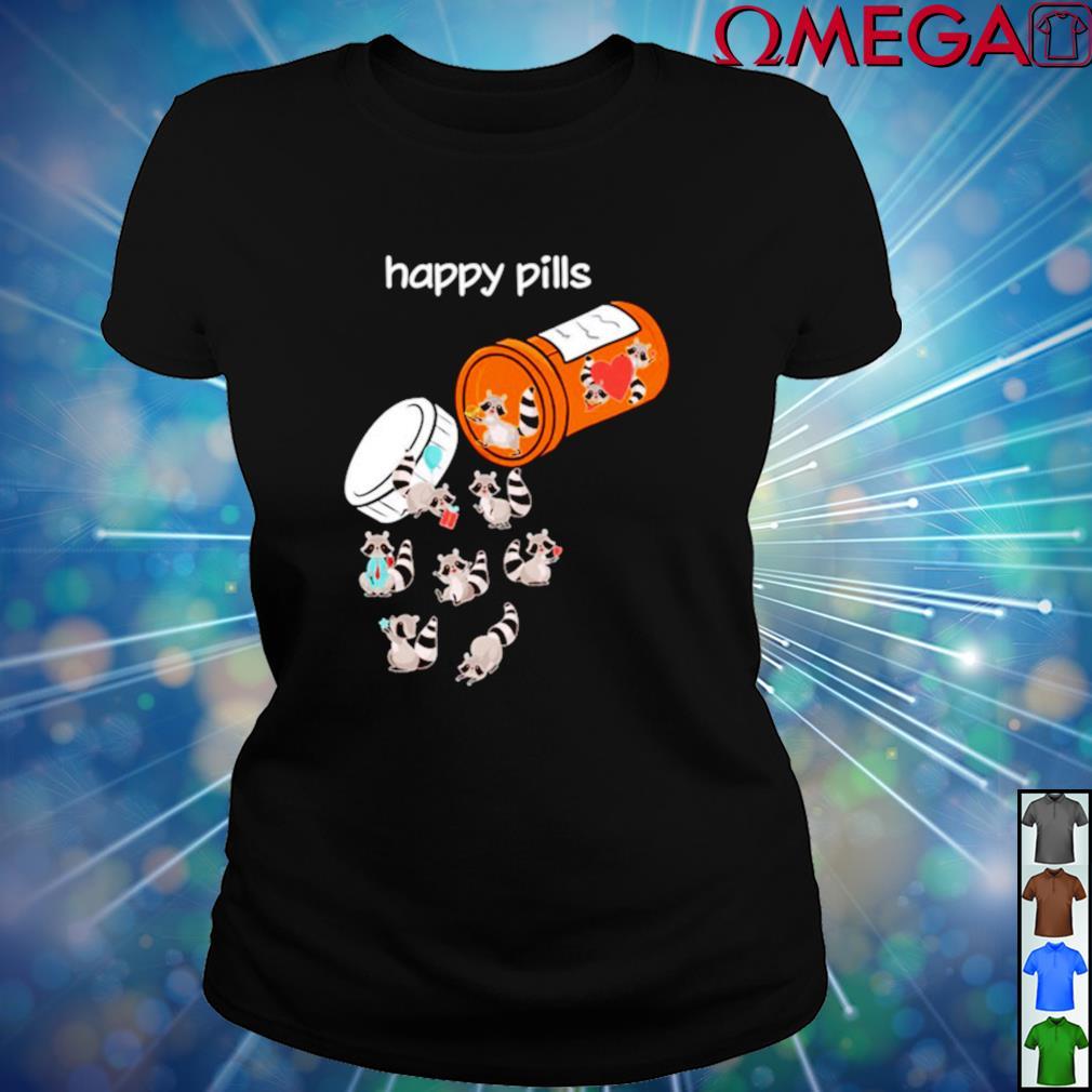 Raccoons Happy Pills ladies-tee