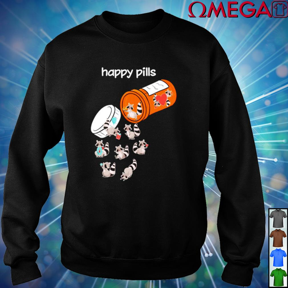 Raccoons Happy Pills sweater