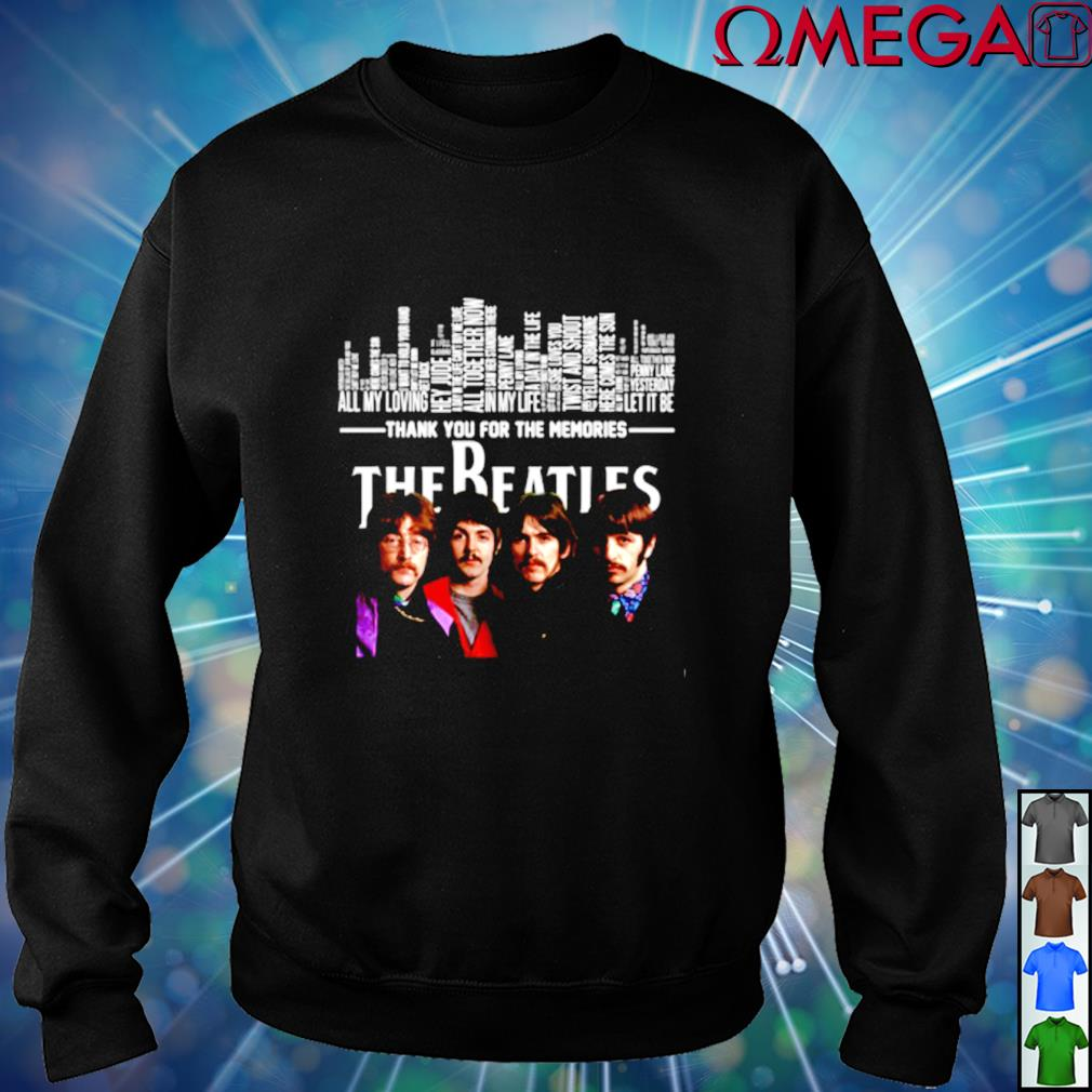 Thank you for the memories The Beatles sweater