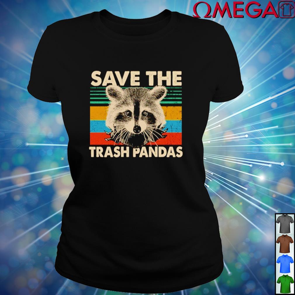 Vintage Raccoon save the trash pandas ladies-tee
