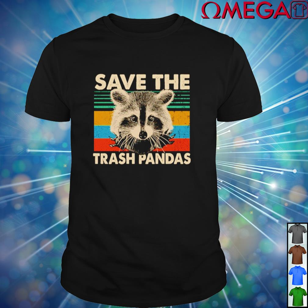 Vintage Raccoon save the trash pandas shirt