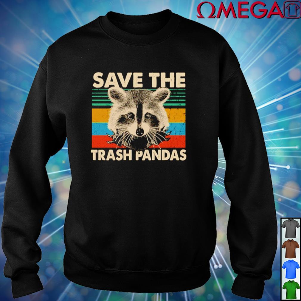 Vintage Raccoon save the trash pandas sweater