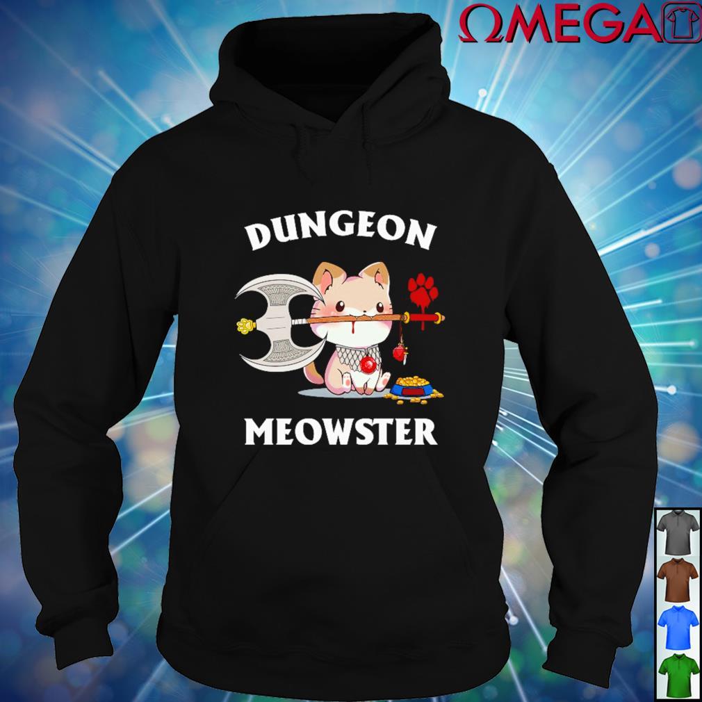 Cat Viking Dungeon Meowster hoodie