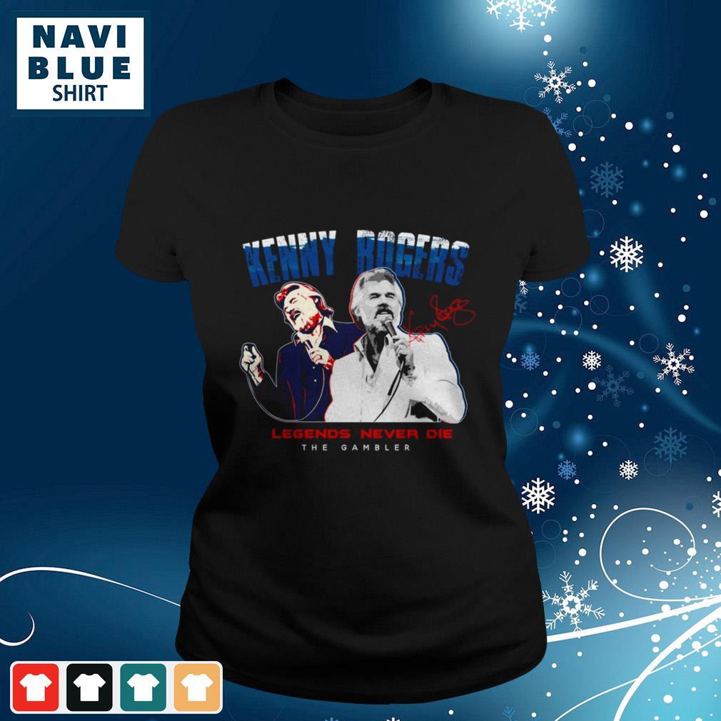 Kenny Rogers Legends Never Die The Gambler shirt