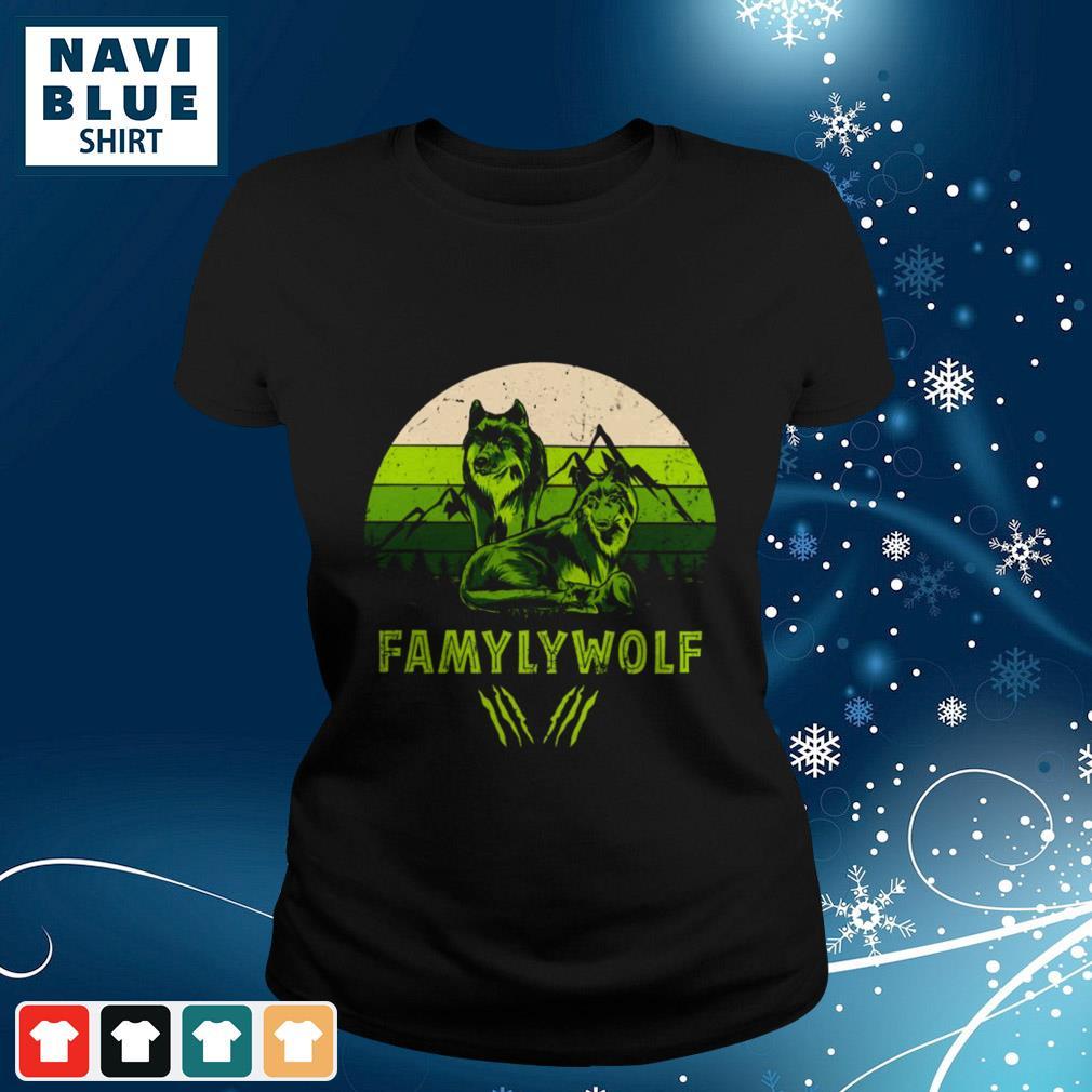 Mountain Famyly Wolf Vintage ladies-tee