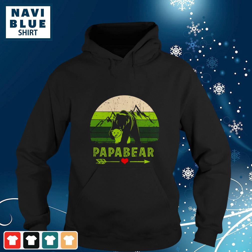 Mountain Papabear Love Vintage hoodie
