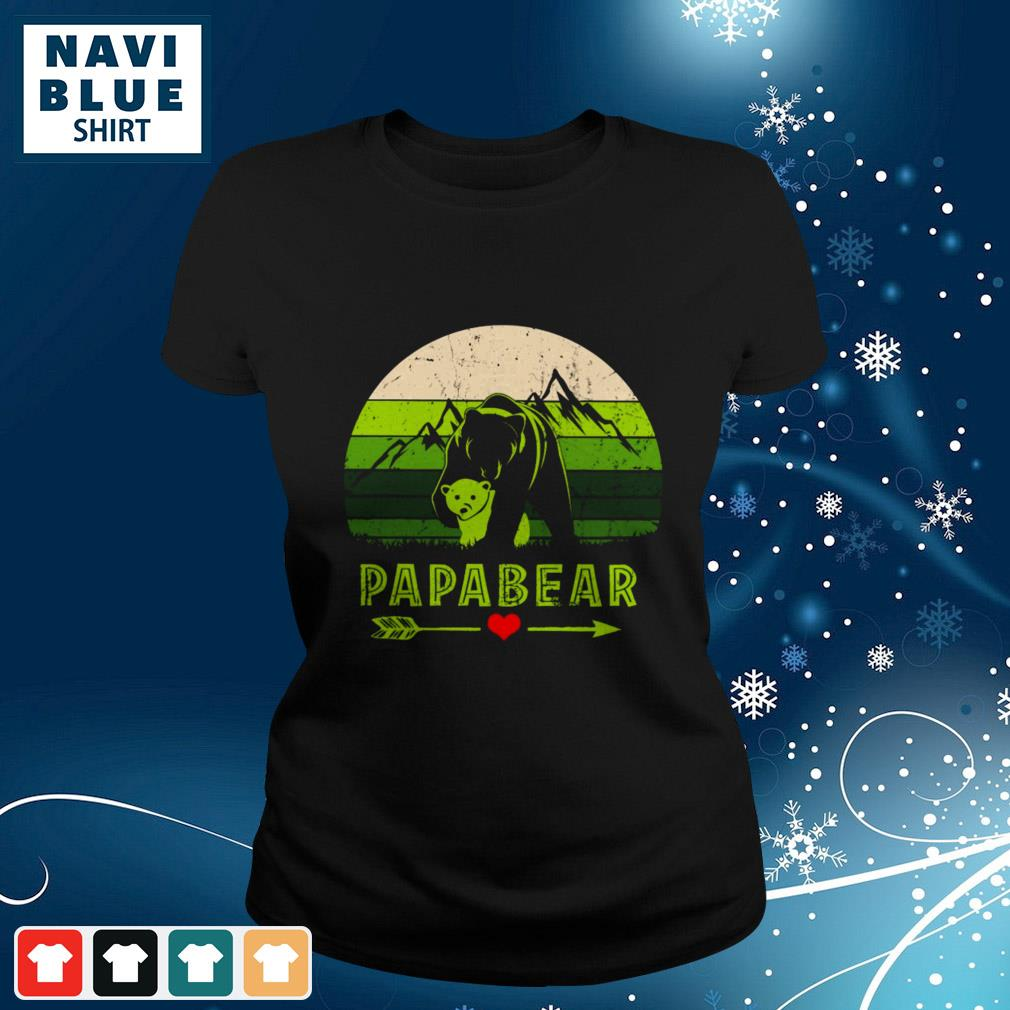 Mountain Papabear Love Vintage ladies-tee