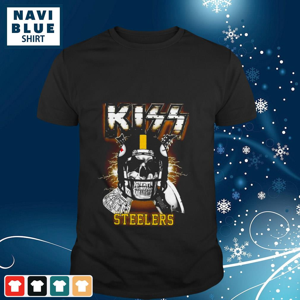 Skull Kiss rock band Pittsburgh Steelers shirt
