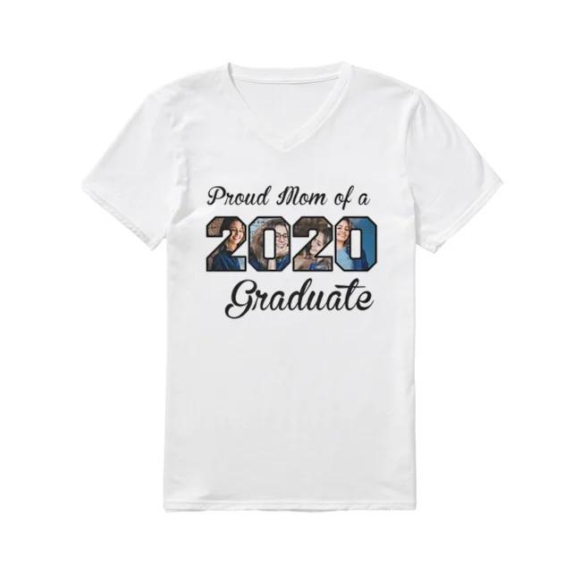 Hot Proud Mom of a 2020 Graduate V-neck-t-shirt