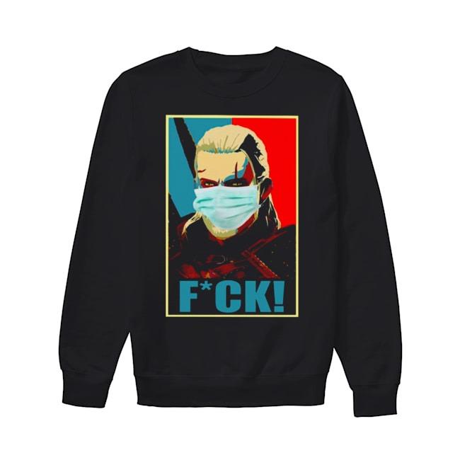 The Witcher Geralt face mask fuck Coronavirus Covid-19 Sweater