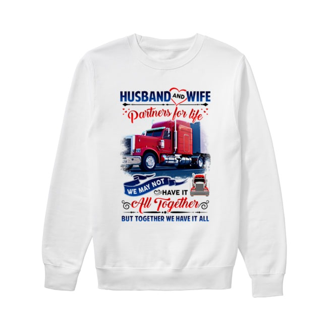 Trucker Husband and Wife Partners For Life Sweater