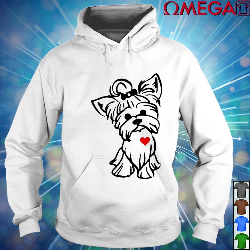 Love Yorkshire Terrier Dog T-s hoodie