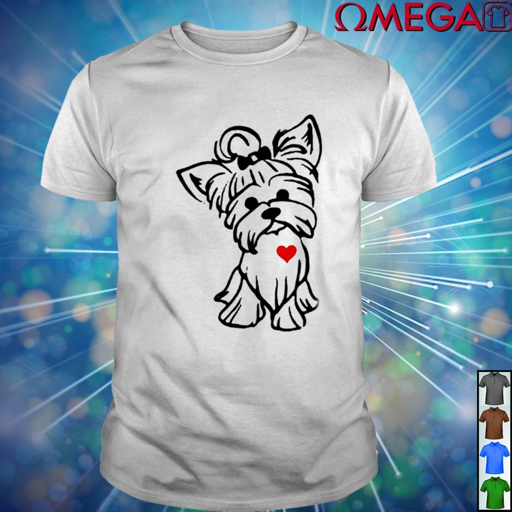 Love Yorkshire Terrier Dog T-shirt