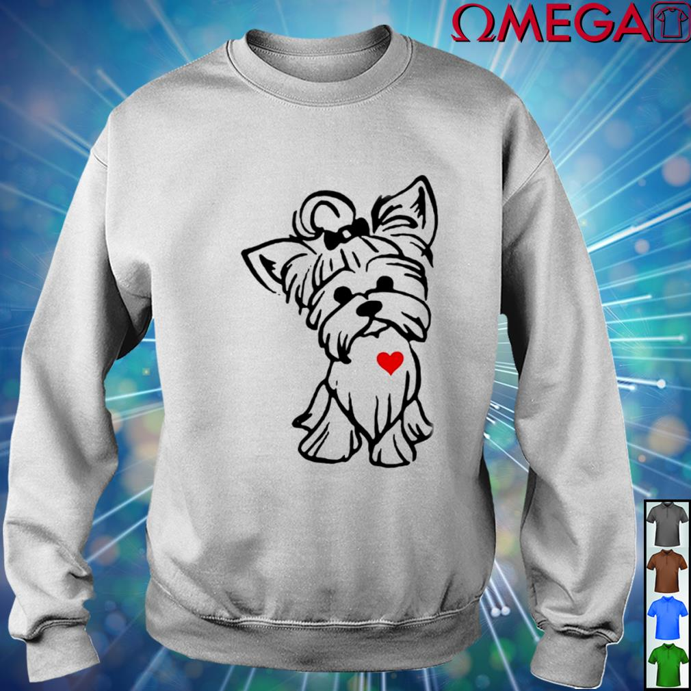 Love Yorkshire Terrier Dog T-s sweater