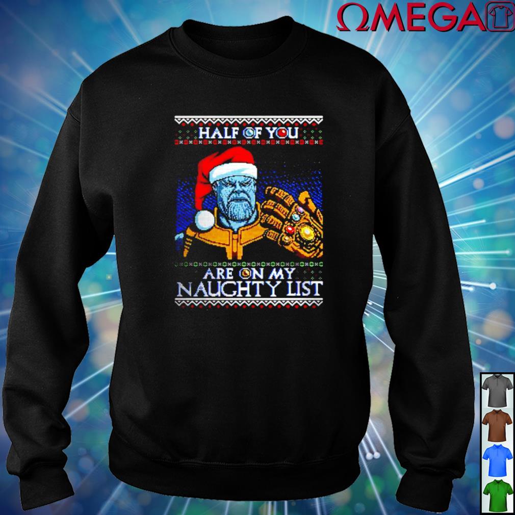 Avengers Thanos Santa half of you are on my naughty list
