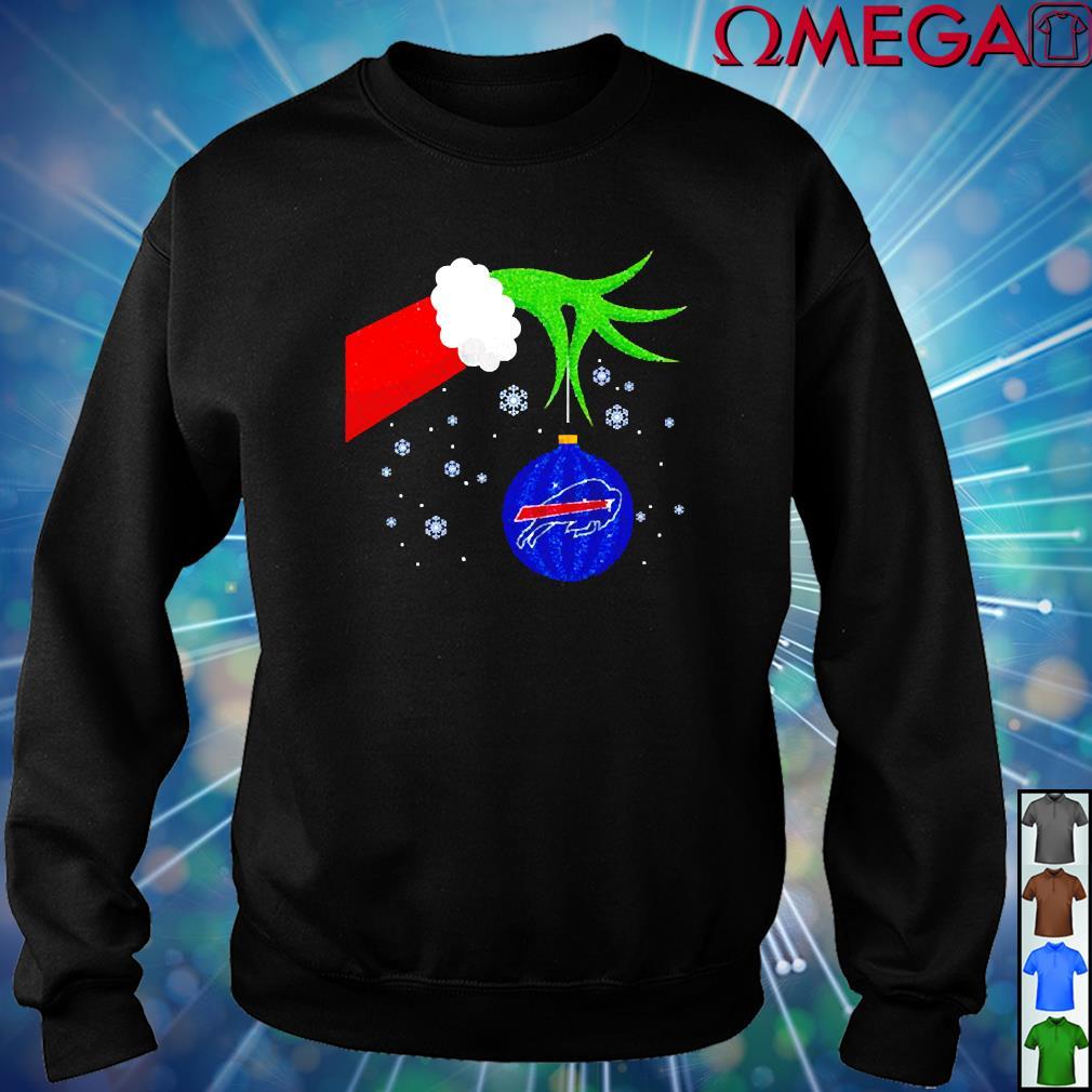Grinch hand Holding Ornament Buffalo Bills Christmas shirt ...