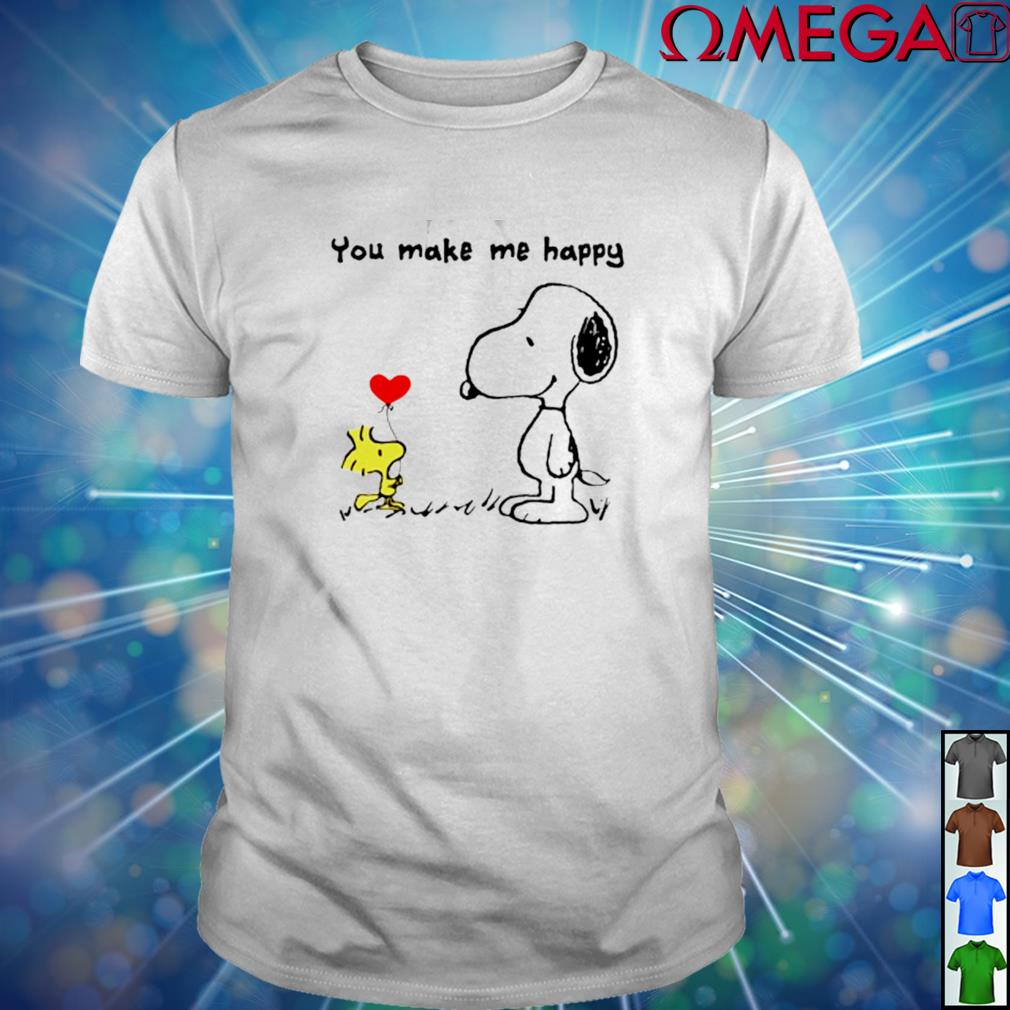 Woodstock and Snoopy you make me happy shirt